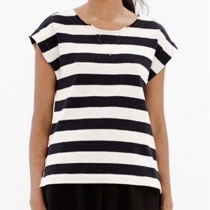 Madewell Striped Retro Cutoff Muscle Tee Shirt L